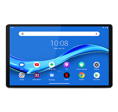 lenovo smart tab m10 fhd plus (za6s0003in) 2nd gen with google assistant (4 gb ram 128 gb rom) 10.3 inch with wi-fi+4g tablet (iron grey)