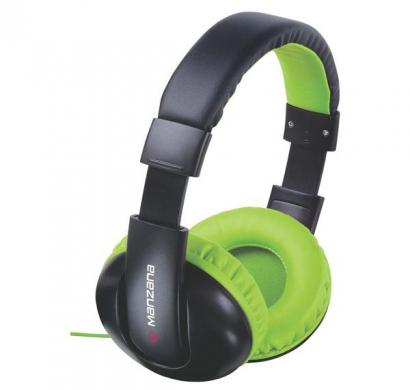 manzana hangon noise isolation headphone without mic green black