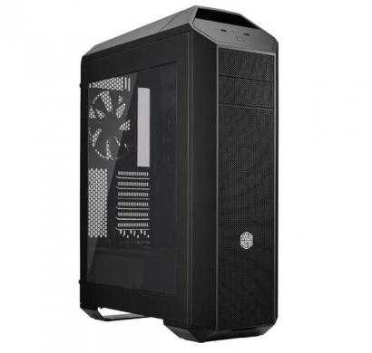 mastercase pro 5 mid-tower case with freeform modular system, window side panel, top mesh cover, and