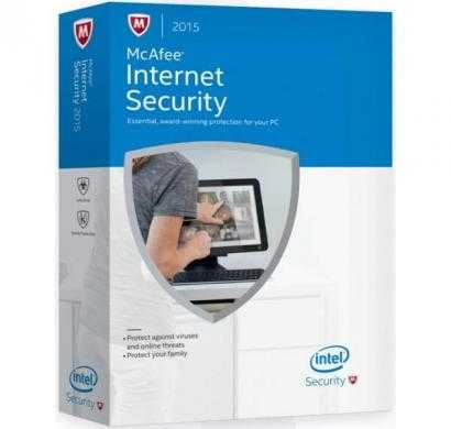 mcafee internet security 2015 3 user / 3 year