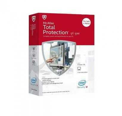 mcafee total protection - 1 user, 1 year (cd)