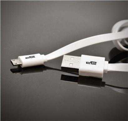 micro usb flat cable white deca-1001fwht