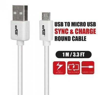 micro usb round cable white deca-1001r(wht)