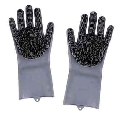 mixeur household silicon hand glove -anti slip (multicolor)