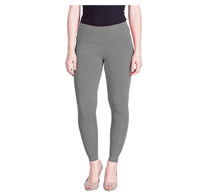mks impex cotton lycra ankle length leggings for women & girls (grey)