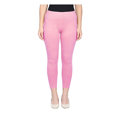 mks impex cotton lycra ankle length leggings for women & girls (baby pink)