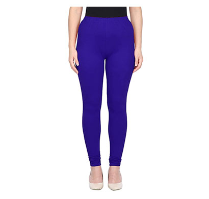 mks impex women's churidar leggings soft cotton lycra 4 way stretchable (navy blue)