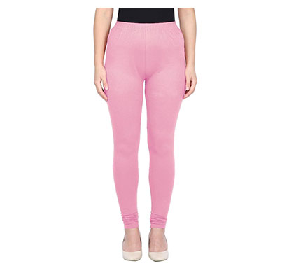 mks impex women's churidar leggings soft cotton lycra 4 way stretchable (baby pink )