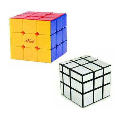 negi cube combo pack 1 (negi speed cube + mirror cube)