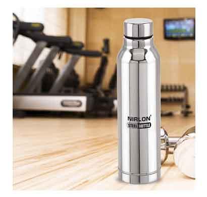 nirlon aqua water bottle silver (1000 ml)