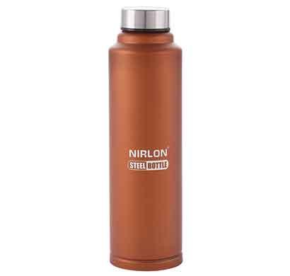 nirlon aqua bronze 1000ml stainless steel freezer bottle (70018)