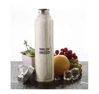 nirlon white marble 1000ml stainless steel freezer bottle (70031)
