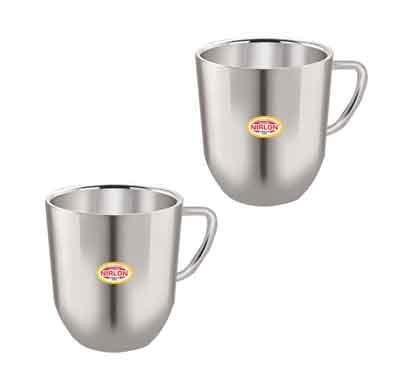 nirlon cute big tea cup (225 ml) 2 pcs set