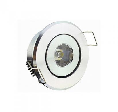 noble electricals 1.2w neutral white 120lm white powder coated led down light