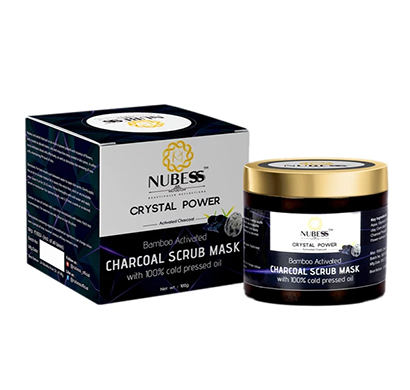 nubess crystal power activated charcoal scrub mask - 100gm