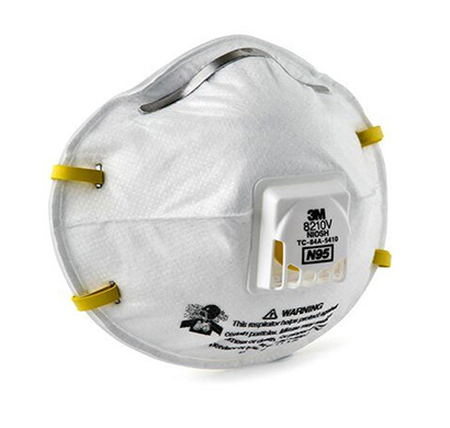 3m 8210v n-95 particulate respirator mask