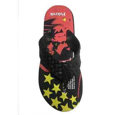 pokrok men's flip flops slippers winner 1 black (6403)