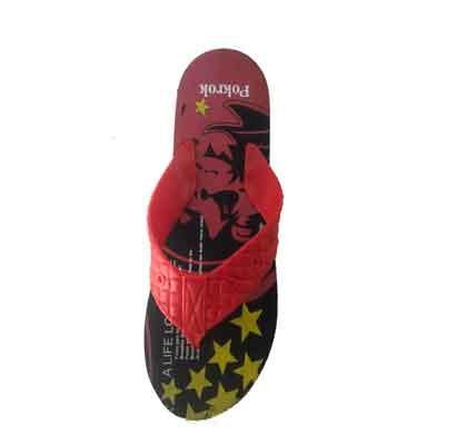 pokrok men's flip flops slippers winner 1 red (6403)