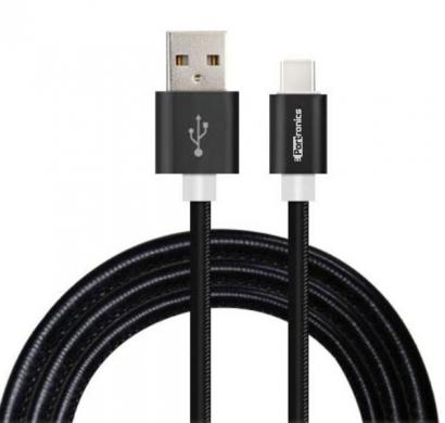 portronics tangle free charge & sync lightning wrapped cable