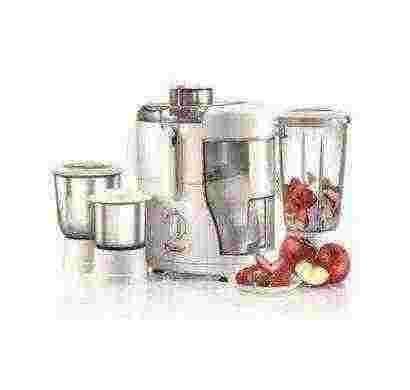 prestige champ 550 w juicer mixer grinder (white/3 jar)