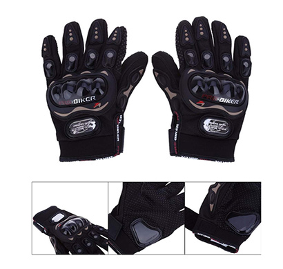 probiker synthetic leather motorcycle gloves (black)