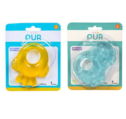 pur water filled teether (car/ fish shaped)