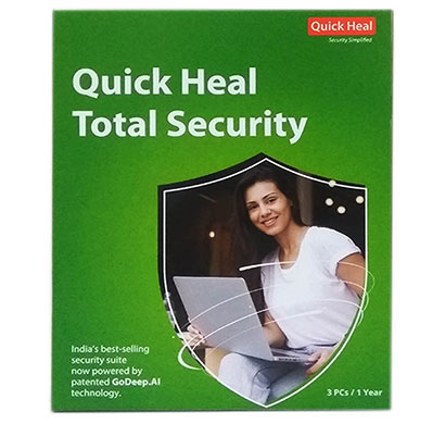 quick heal total security regular 3pc / 1 year (tr3)