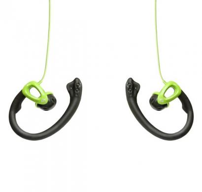 reconnect sporty ep se-mic wired headphone, green