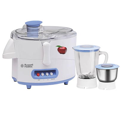 russell hobbs rjmg500 juicer mixer grinder, 500w ( sky blue and white)