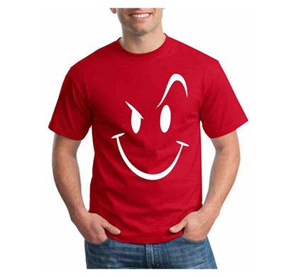 s c trendz men round neck emoji t-shirt (multicolor)