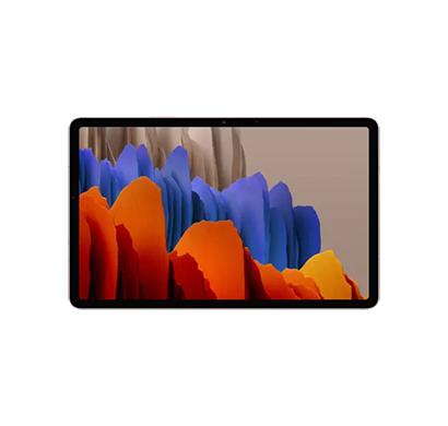 samsung galaxy tab s7+ tablet (6gb ram/ 128gb storage/ wi-fi + 4g/ android 10/ 12.4 inch/ voice calling/ 1 year warranty) mystic bronze