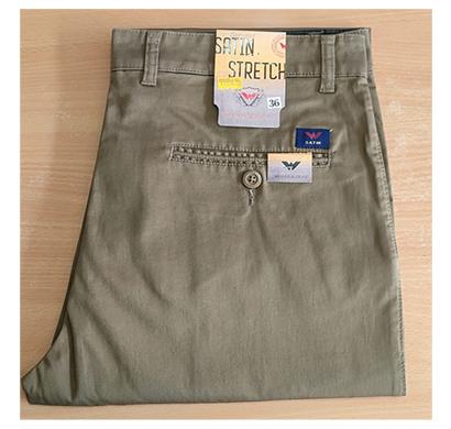 satin woods & grey men's full pants cotton ( multi color)