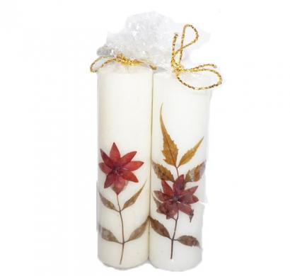 scented natural piller candles pack of 2