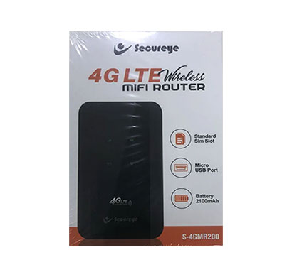 secureye s-4gmr200 dual band wifi hotspot device (black, 150 mbps)