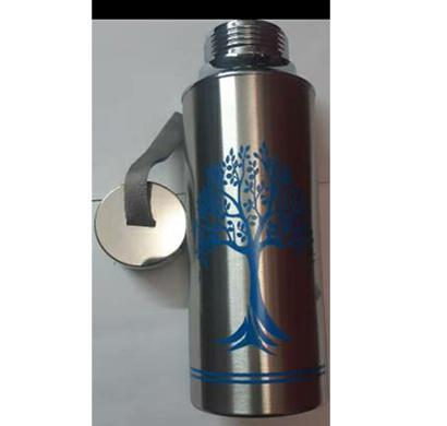 shanti 500 stainless steel 500 ml water bottle (set of 1, silver)