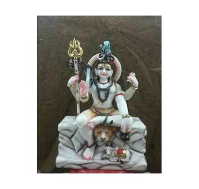 shiv shankar white marble murti