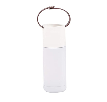 shopizone portable vacuum cups stainless steel thermos flasks bottle mug for tea coffee white