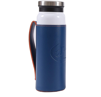 shopizone flask insulated water bottle leak-proof stainless steel vacuum thermos (white)