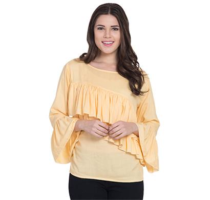 showylook women western wear crepe top(swo-top-700-pick-chestfreel-m),peach