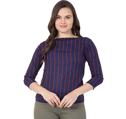 showylook (swo-208-blue) women western crepe top (blue)