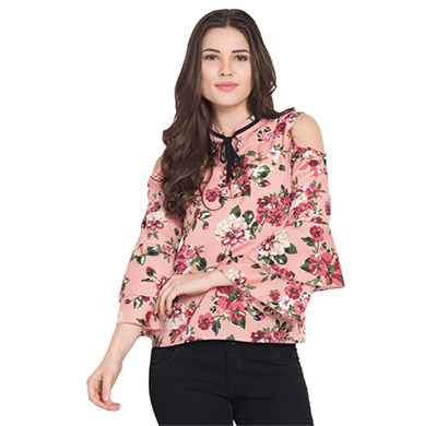 showylook women western wear crepe top(swo-top-705-pattirose),multicolor