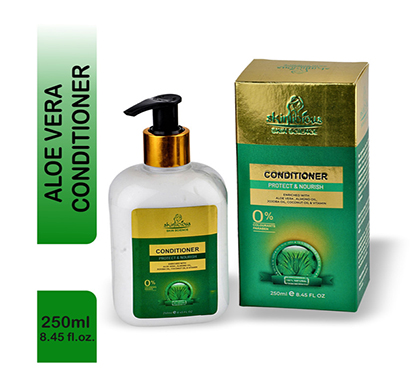 skinlicous aloevera conditioner with almond oil, jojoba oil, coconut oil & vitamin e- no parabens (250ml)