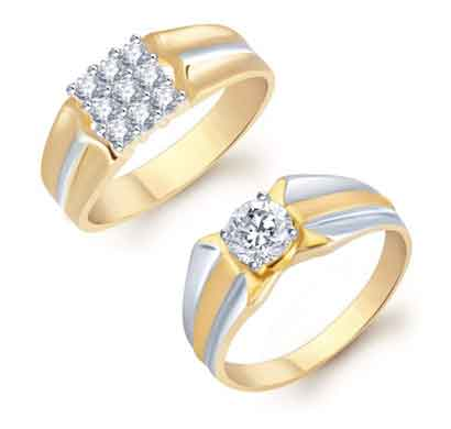 sukkhi blossomy 2 piece ring combo for men
