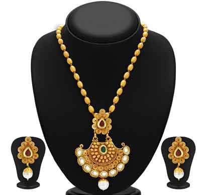sukkhi marvellous gold plated kundan necklace set for women (2580nkdp900)
