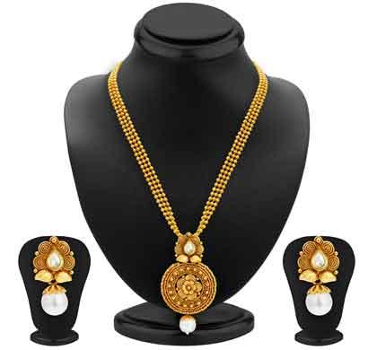 sukkhi graceful gold plated kundan necklace set for women (2581nkdp450)