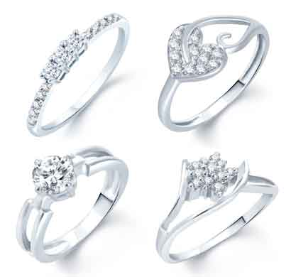 sukkhi incredible rhodium plated set of 4 cz ring combo for women (288cb1300_10)
