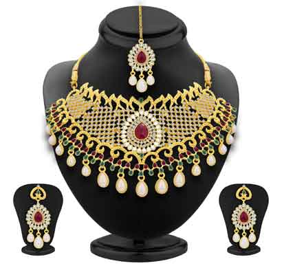 sukkhi fancy gold plated ad necklace set for women (3135nads1600)