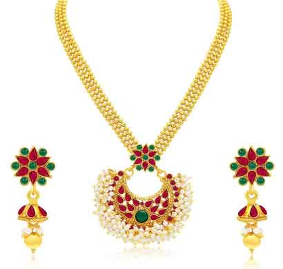 sukkhi traditionally gold plated necklace set for women (3184ngldpp950)