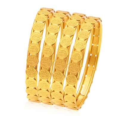 sukkhi glamorous temple jewellery gold plated coin bangle for women (32083bgldpp400_2.6)