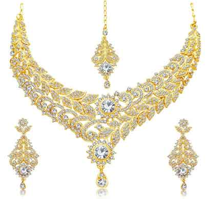 sukkhi wavy gold plated ad necklace set for women (3241nadm1900)